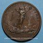 Münzen Louis XIV. Bataille de Laufelt. Médaille bronze 1747