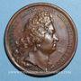 Münzen Louis XIV. Edit contre le luxe. Médaille bronze 1700