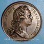 Münzen Louis XV. Pose de la première pierre de l'église Saint-Germain. Médaille bronze 1766