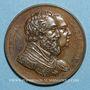 Münzen Louis XVIII. Rétablissement de la statue d'Henri IV 1817. Médaille bronze 32,7 mm gravée par Gayrard