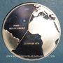 Münzen Paris - Rio de Janeiro. Premier vol supersonique commercial 1976. Médaille argent. 38,5 mm