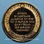 Münzen Prise de la Bastille. 1789. Médaille vermeil. Frappe moderne !