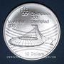 Münzen Canada. Elisabeth II (1952- /). 10 dollars 1976. J.O. Montréal. Le stade olympique