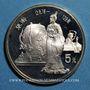 Münzen Chine. République Populaire. 5 yuan 1986. Zang Heng, astronome