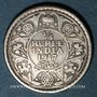 Münzen Indes Anglaises. Georges V (1910-1936). 1/4 roupie 1917 (c). Calcutta