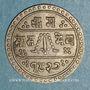 Münzen Népal. Prithvi Bir Bikram (1881-1911). 1/2 mohar  1827 ES (=1905)