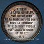 Münzen Guerre de 1870-1871. 108 bataillons du général Cl. Thomas vont livrer bataille. Médaille.  48,2 mm