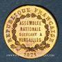 Münzen Guerre de 1870-1871. A. Thiers, élu à l'Assemblée Nationale. Médaille cuivre jaune. 23,25 mm