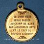Münzen Guerre de 1870-1871. A. Thiers, revue passée au Champ de Mars 1871. Médaille cuivre jaune. 23,4 mm