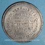 Münzen Guerre de 1870-1871. Bataille de Vermans et St Quentin. 19 janvier 1871. Médaille en étain