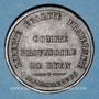Münzen Guerre de 1870-1871. Comité Provisoire de Lyon. Médaille bronze. 29,6 mm