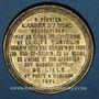 Münzen Guerre de 1870-1871. L'armée du Nord réorganisée et massée autour de Lille. Médaille étain doré