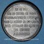 Münzen Guerre de 1870-1871. Les subsistances alimentaires. Réunion des 20 maires de Paris. Médaille. 48,1mm
