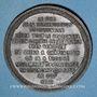 Münzen Guerre de 1870-1871. Mort du duc de la Rochefoucauld. Médaille étain bronzé. 45,8 mm