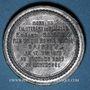 Münzen Guerre de 1870-1871. Mort du lieutenant de Vaisseau Edgard Saisset. Médaille étain. 37,2 mm
