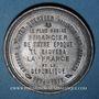 Münzen Guerre de 1870-1871. Pouyer-Quertier, ministre des finances. Médaille étain. 46 mm
