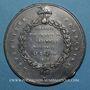 Münzen Révolution de 1848. 24 juin - Chute de la commission exécutive. Médaille étain. 49 mm