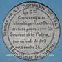 Münzen Révolution de 1848. Accusations contre le général Cavaignac. Médaille étain. 72 mm