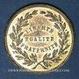 Münzen Révolution de 1848. Commémoration des journées de février. Médaille laiton. 22,5 mm