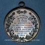 Münzen Révolution de 1848. Fraternisation des gardes nationales. Médaille bronze. 35 mm