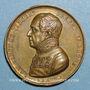 Münzen Révolution de 1848. Le département du Rhône au baron de Vincent. Médaille cuivre doré. 36 mm