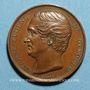 Münzen Révolution de 1848. Médailles de personnages divers - Antoine Eugène de Genoude. Médaille cuivre