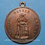 Münzen Révolution de 1848. Série parisienne de 1849. Médaille cuivre. 31,7 mm