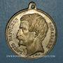 Münzen Révolution de 1848. Vote du Plébiscite 1851. Médaille cuivre blanchi. 35 mm