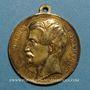 Münzen Révolution de 1848. Vote du Plébiscite 1851. Médaille cuivre jaune. 35 mm
