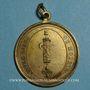 Münzen Révolution. Insigne uniface vivre libre ou mourir. 1792. Cuivre jaune avec bélière et anneau