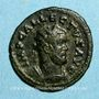 Münzen Allectus (293-296). Antoninien. Colchester, 294-296. R/: galère