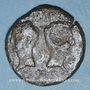 Münzen Auguste et Agrippa. Dupondius. Nîmes, 16 - 10 avant J-C ; contremarqué DD