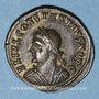 Münzen Constance II, césar (324-337). Centénionalis. Héraclée, 1ère officine, 326. R/: porte de camp