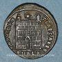 Münzen Constantin II, césar (317-337). Centénionalis. Alexandrie, 1ère officine, 325-326. R/: porte de camp