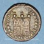 Münzen Constantin II, césar (317-337). Centenionalis. Héraclée, 5e officine, 317. R/: porte de camp