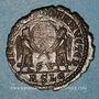 Münzen Décence, césar (350-353). Maiorina. Lyon, 2e officine, 351. R/: deux Victoires