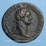 Münzen Domitien (81-96). Sesterce. Rome, 90-91. R/: Jupiter