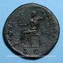 Münzen Domitien (81-96). Sesterce. Rome, 95-96. R/: Jupiter