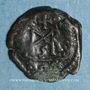 Münzen Empire romain d'Orient. Marcien (450-457). 1/2 centénionalis. Constantinople. R/: monogramme