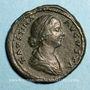 Münzen Faustine jeune, épouse de Marc Aurèle († 175). Sesterce. Rome, 161-175. R/: Junon
