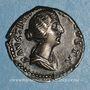Münzen Faustine jeune, épouse de Marc Aurèle (175). Denier. Rome, 157-161. R/: la Concorde