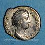 Münzen Faustine mère, épouse d'Antonin le Pieux († 141). Denier. Rome, après 147. R/: Junon