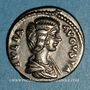 Münzen Julia Domna, épouse de Septime Sévère († 217). Denier. Rome, 197. R/: Vesta