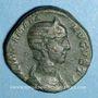 Münzen Julia Mamée, mère d'Alexandre Sévère († 235). Sesterce. Rome, 226. R/: Vesta