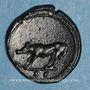 Münzen Trajan (98-117). Quadrans. Rome, 107. R/: louve