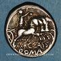 Münzen République romaine. C. Cassius (vers 126 av. J-C). Denier