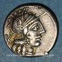 Münzen République romaine. C. Cato (vers 123 av. J-C). Denier