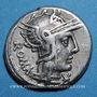 Münzen République romaine. M. Caecilius Q. f. Q. n. Metellus (vers 127 av. J-C). Denier. Sans étoile ! ! !