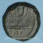Münzen République romaine. M. Fabrinius (132 av. J-C). Quadrans
