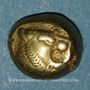 Münzen Royaume de Lydie. Epoque de Alyattes II à Kroisos, 610-540 av. J-C. Trité d'électrum. Sardes